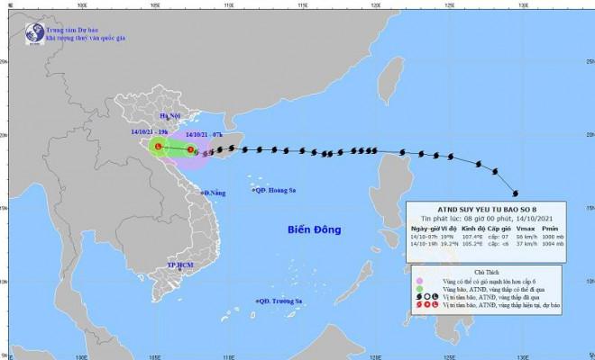 Mưa lớn và nước biển dâng tại Tp.Sầm Sơn do ảnh hưởng bão số 8 - 1