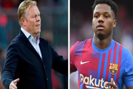 Koeman tiếc vì Barca thua Real siêu kinh điển, báo tin không vui về Fati