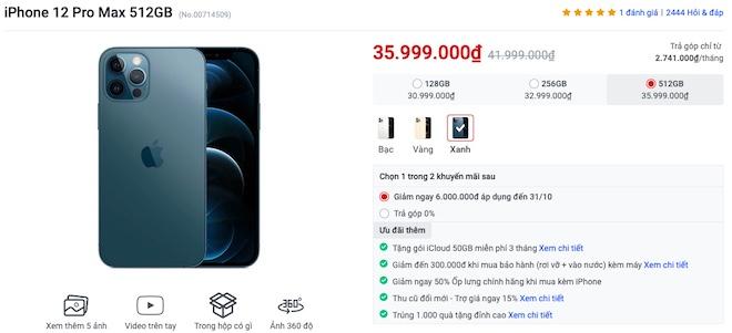 Bảng giá iPhone: iPhone 13 giảm tới 1 triệu, iPhone 12 giảm tới 6 triệu - 1